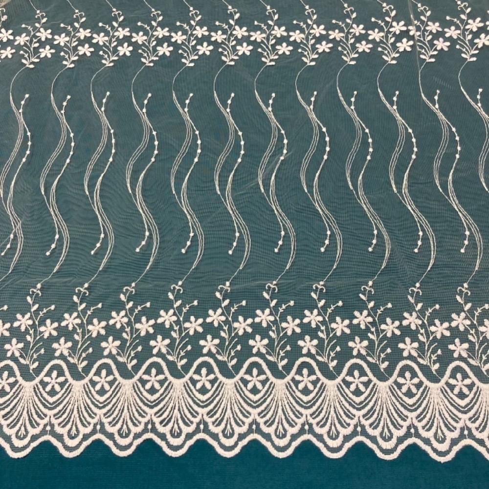 záclona Firanky vyšívaná květy  280 cm
