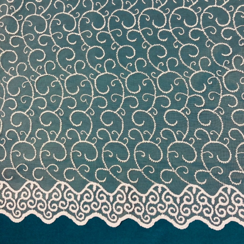 záclona Firanky  vyšívaná vlnky 170 cm