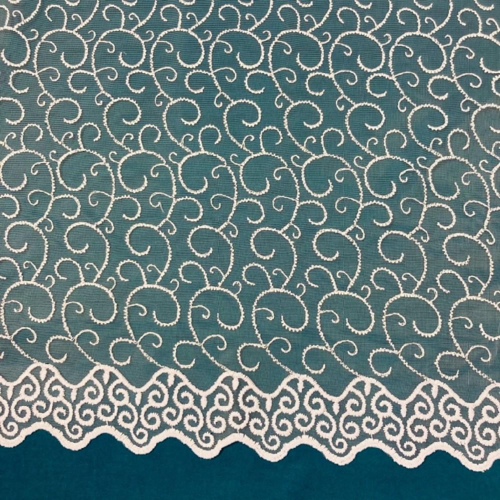záclona Firanky vyšívané vlnky 280 cm