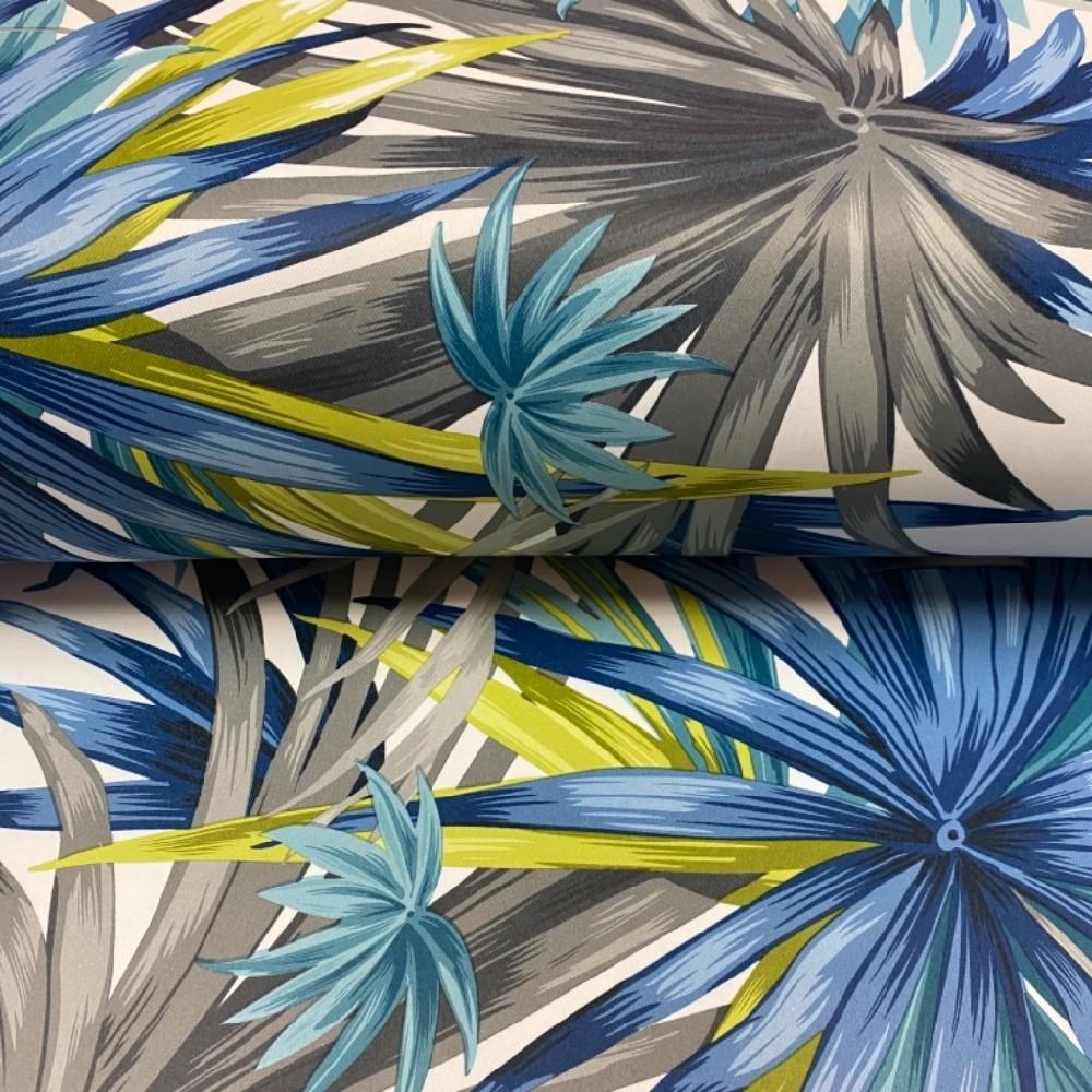dekoračka barevné palmy  modr.žlut.šed.PES. 280 cm 8015A/05