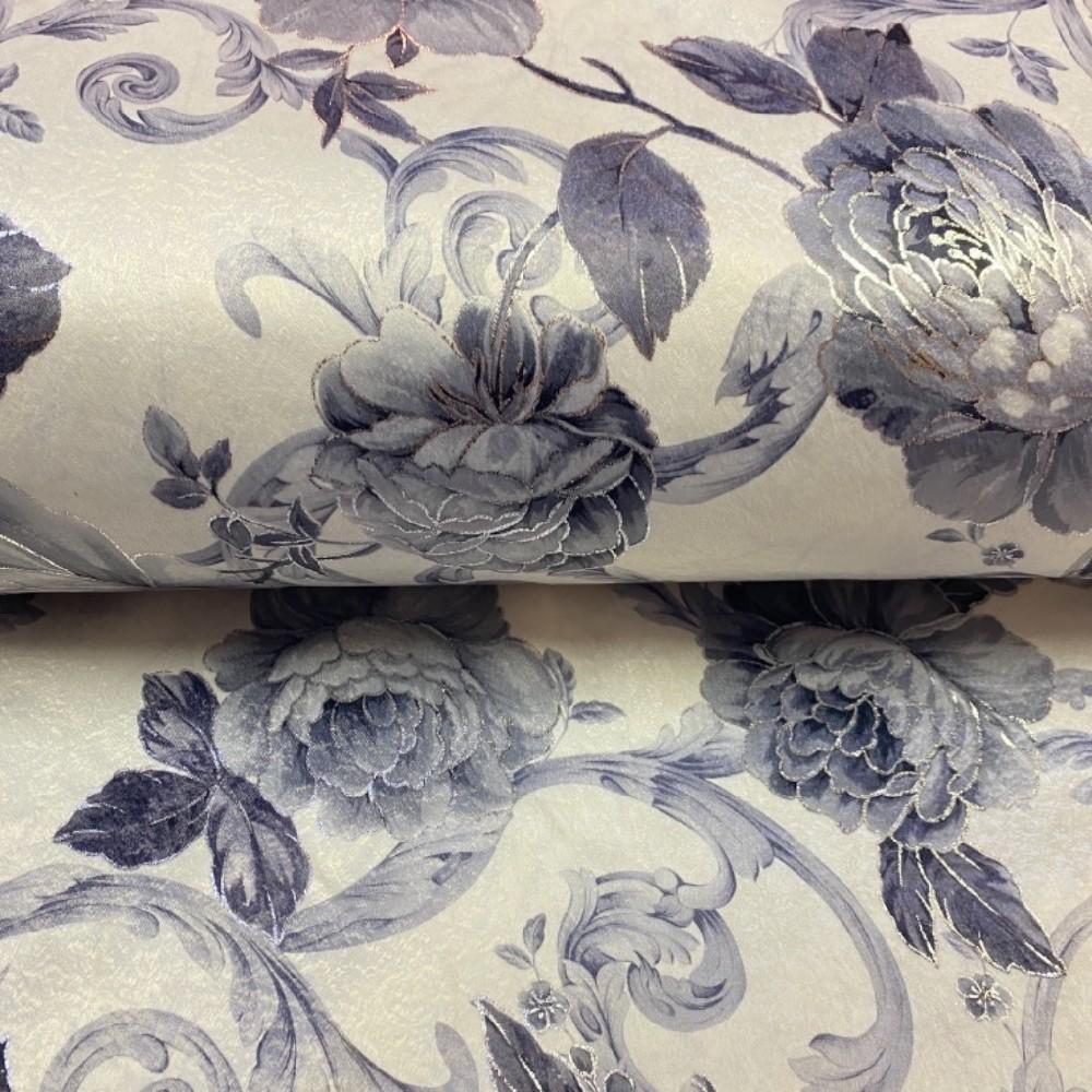 dekoračka čern.šedo stříb.růže 280 cm /PES /9460/10