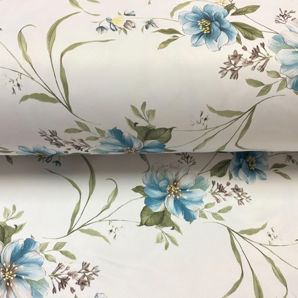 dekoračka  barevné květy modré 22024/01/280 PES