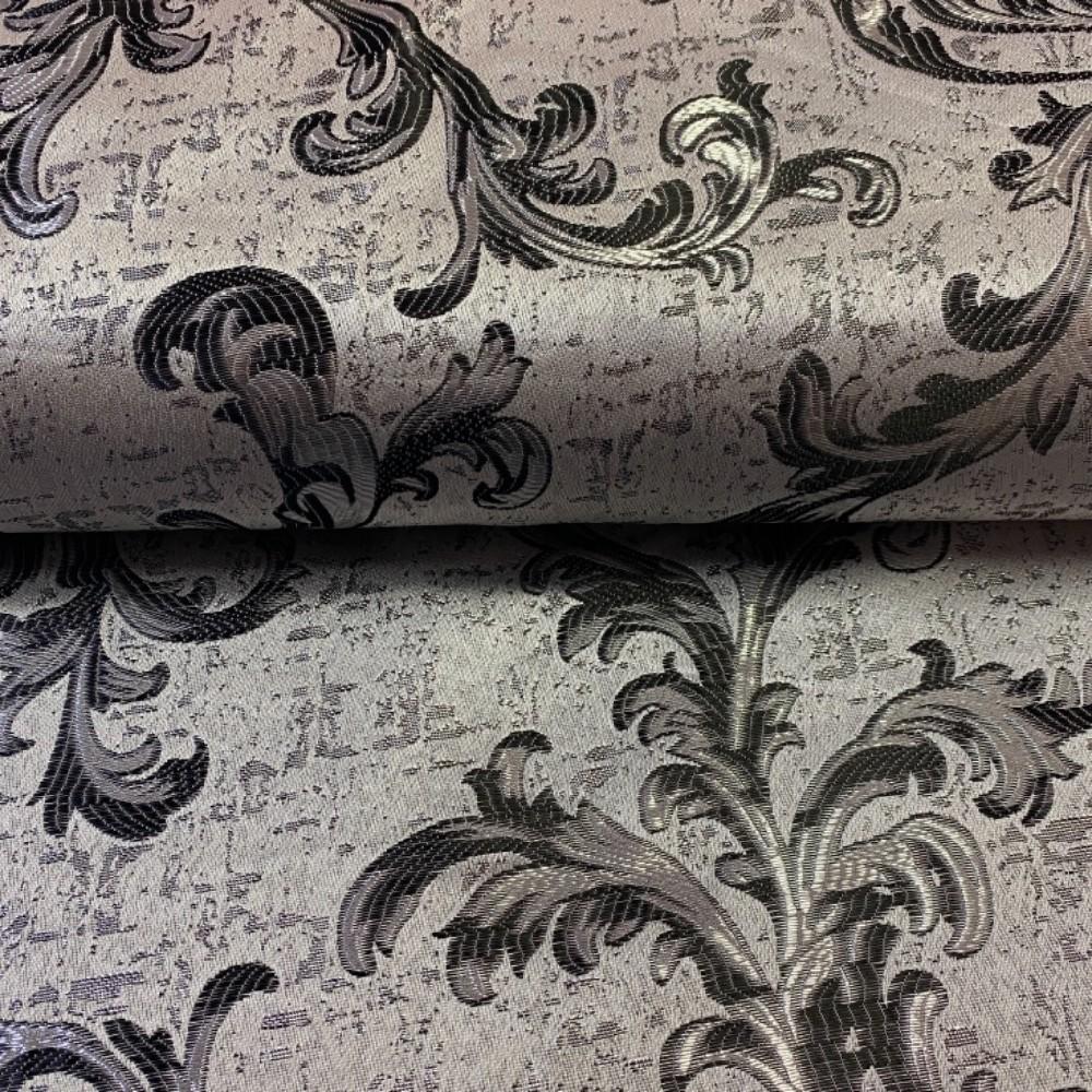 dekoračka  stříbrno  černé šlahouny 17446/01/150