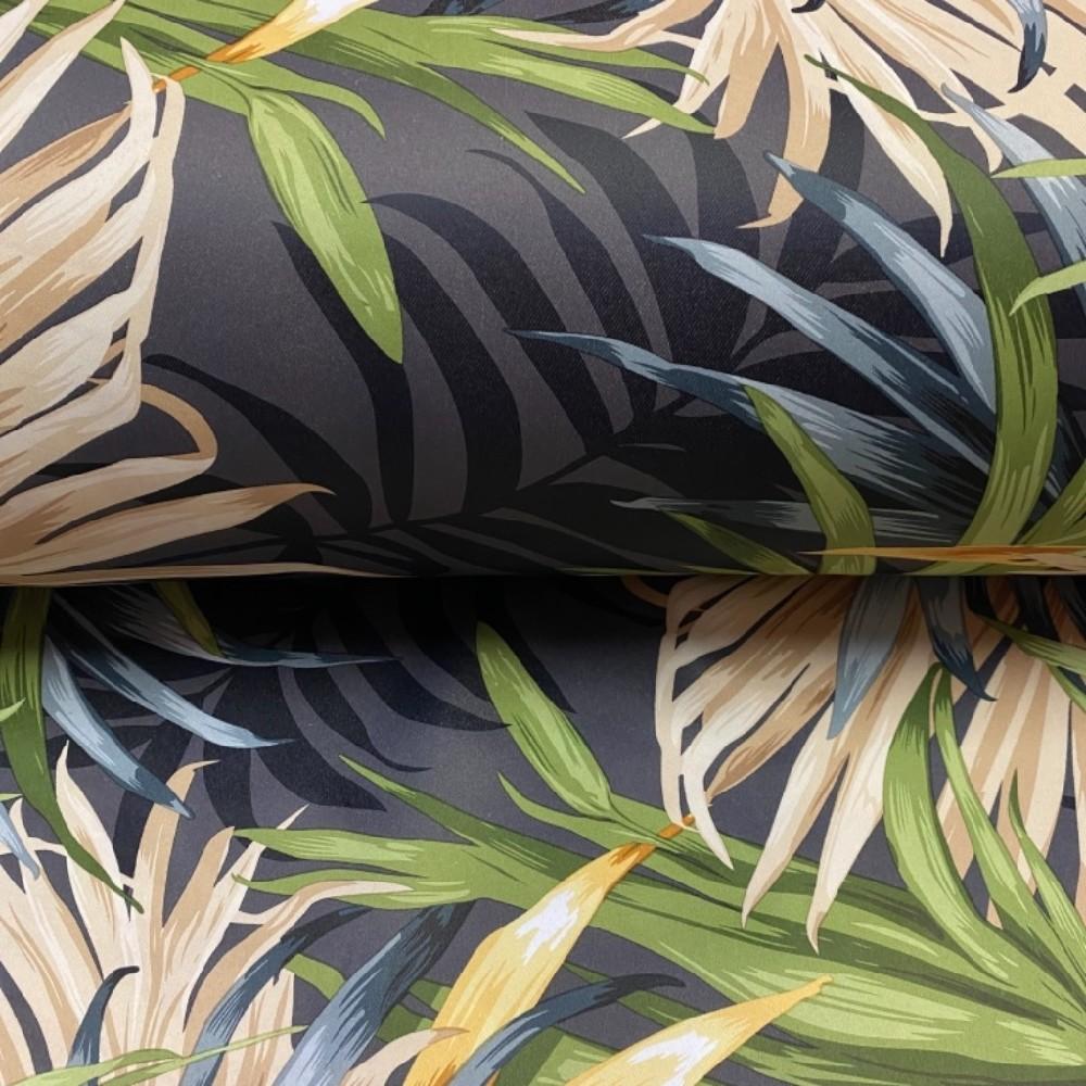 dekoračka barevné palmy šedo.zele.žluté PES/8015/06