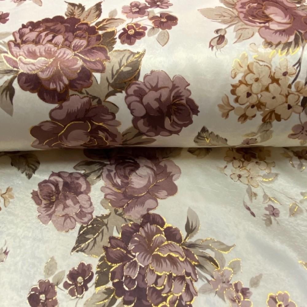 dekoračka krém.bordo zlaté..růže 280 cm /PES /2881/01