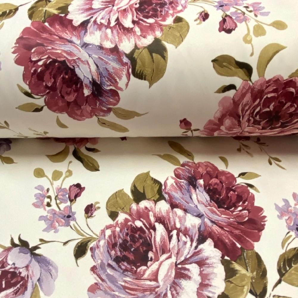 dekoračka růže na krémové 280cmPes2267/03