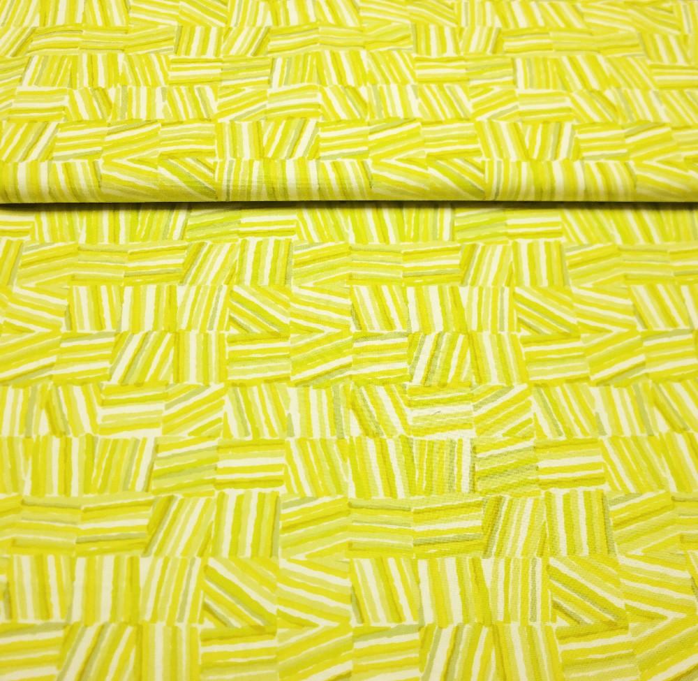 bavlna žluto zelené pruhování