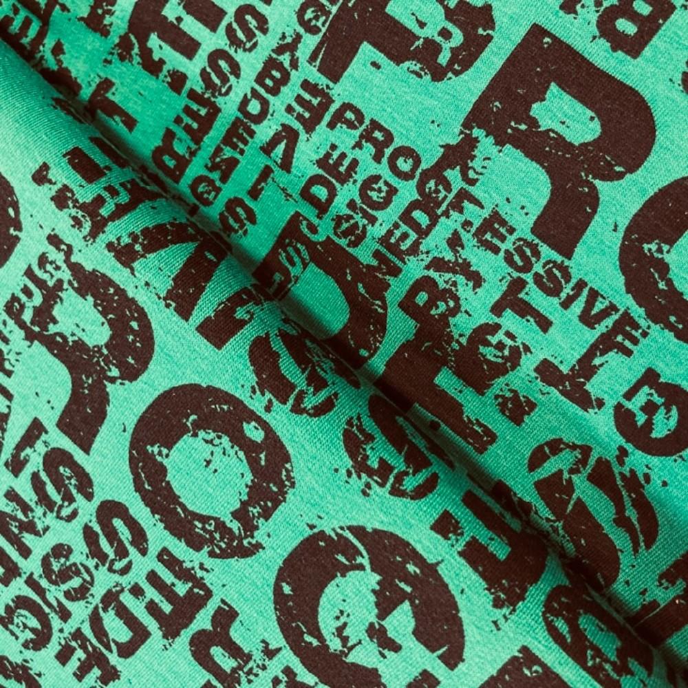 teplákovina písmena černá na zeleném podkladě