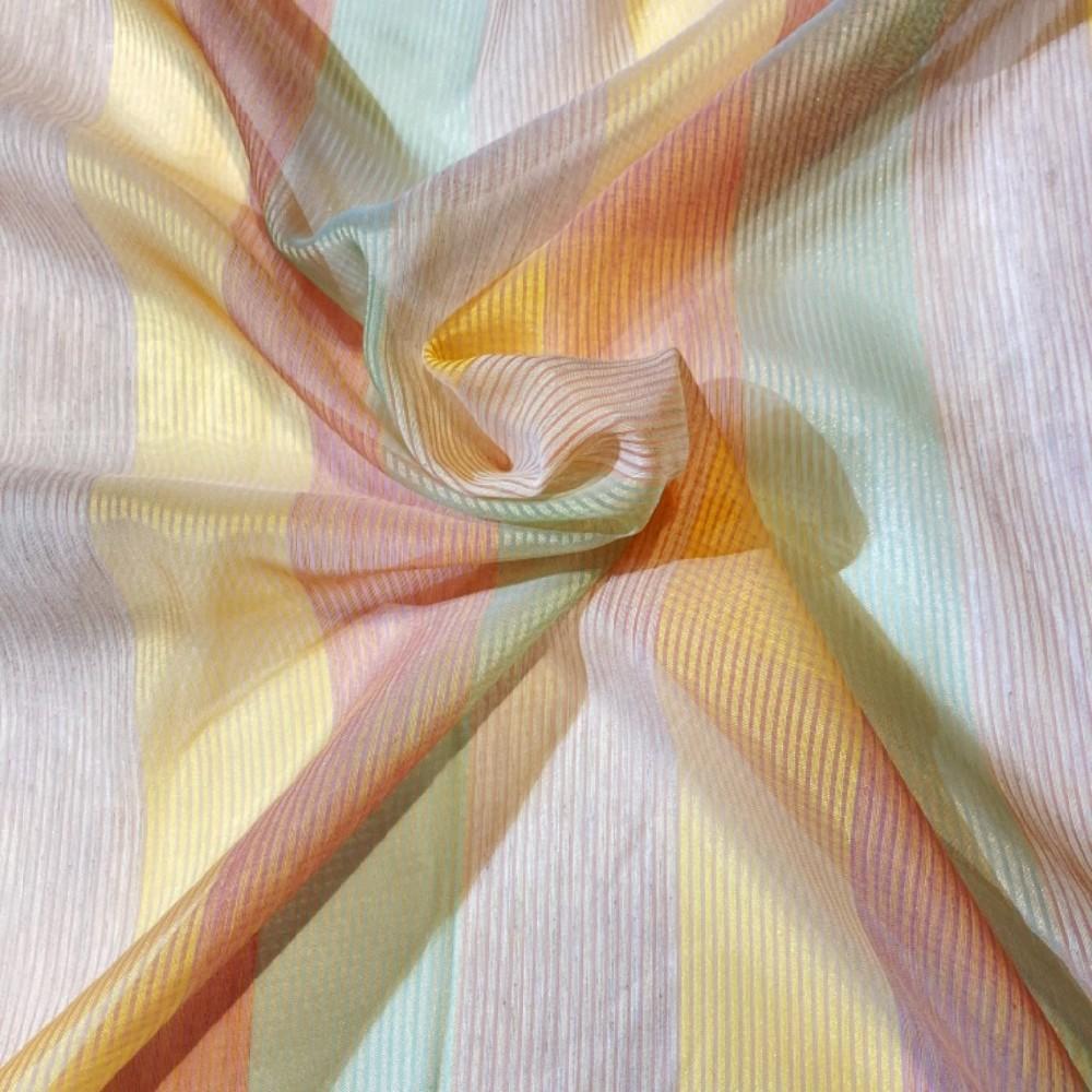záclona voál 145 š. pruhy pastelové