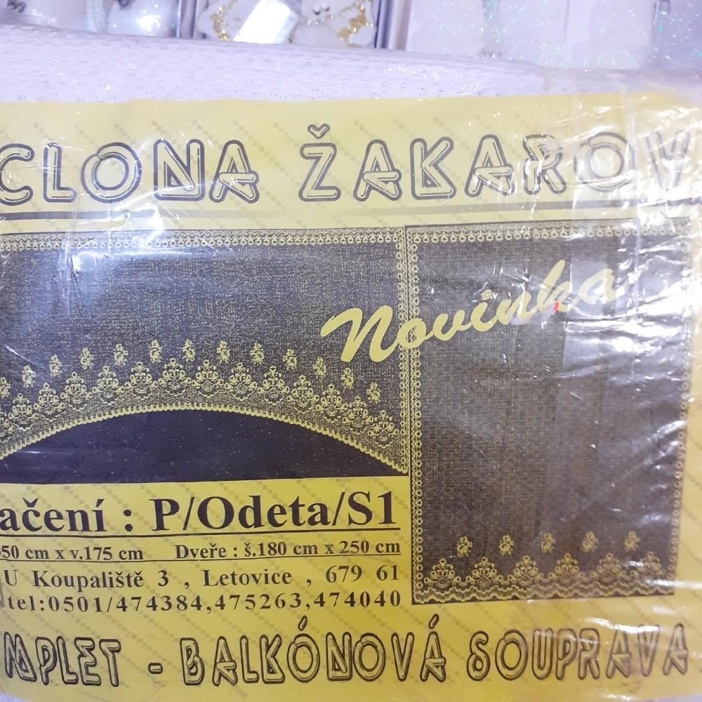 záclona hotová Odeta soprava 170x350,180x250 cm