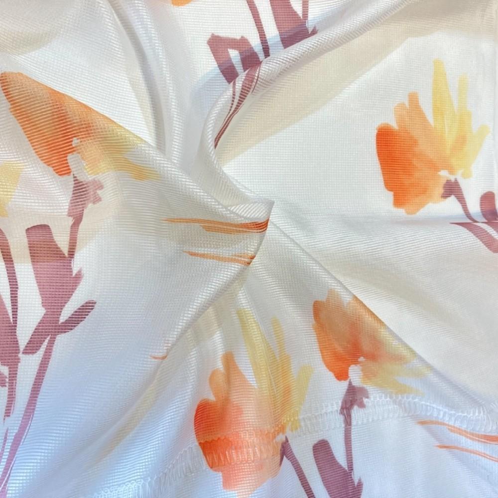 záclona 150 š. oranž květy