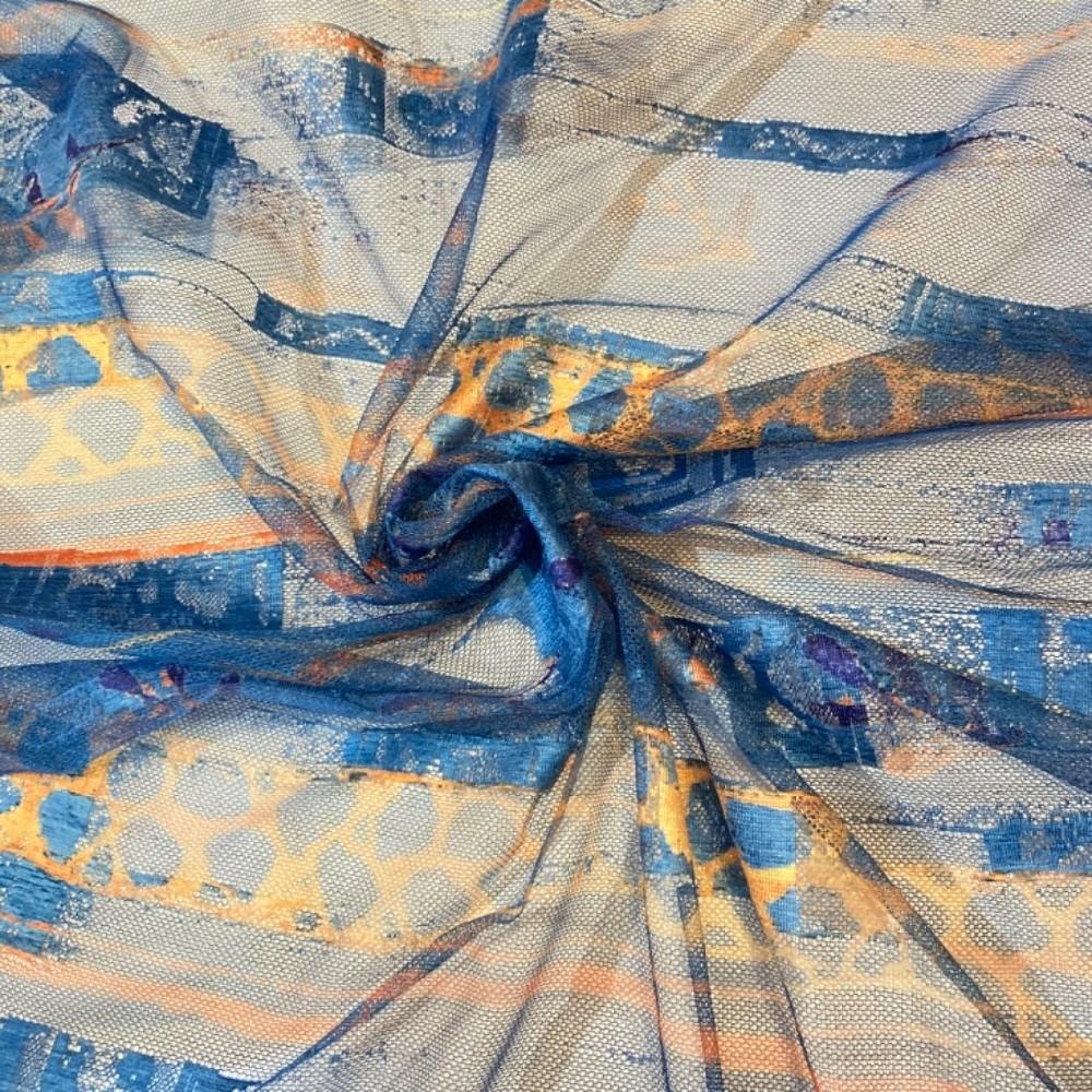 záclona voál 140 š. modrá