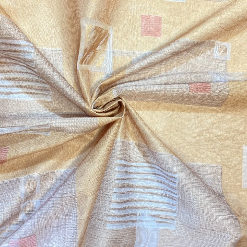 záclona 140 š. zlatá čtverce