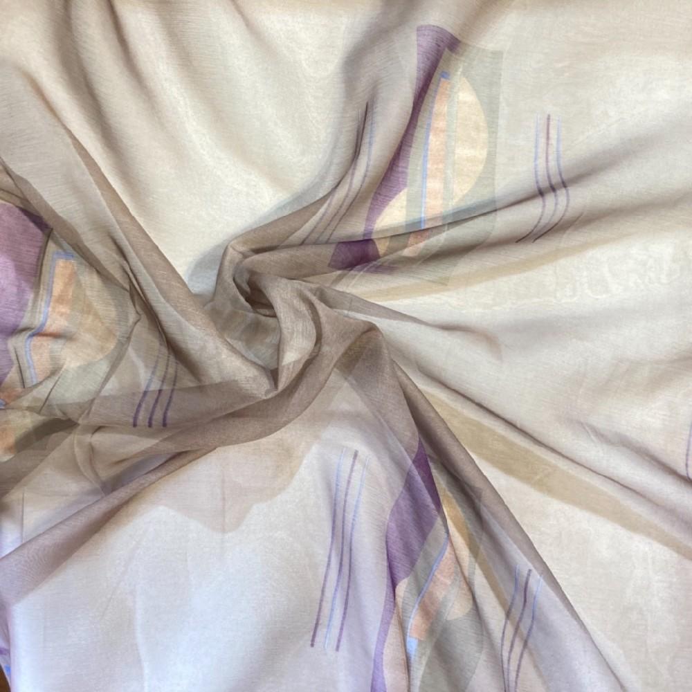 záclona voál 150 š. fialová