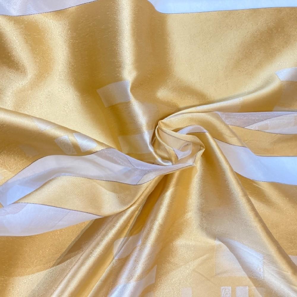záclona voál 150 š. zlatá pruhy