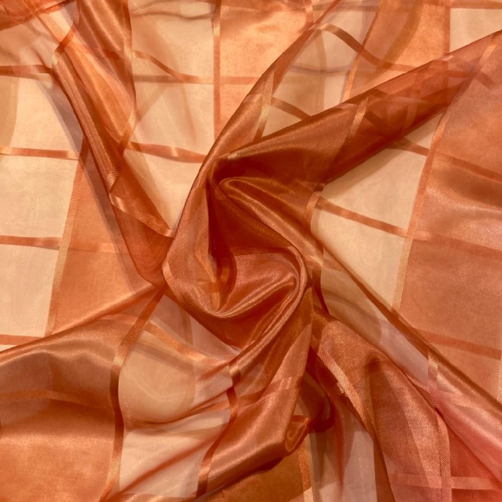 záclona voál 150 š. oranžová