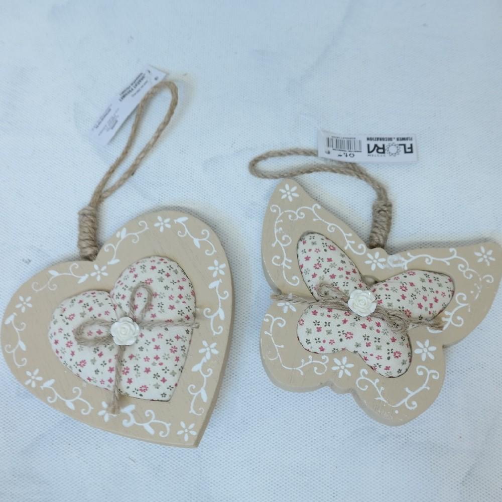 motýl-srdce dekorace závěs