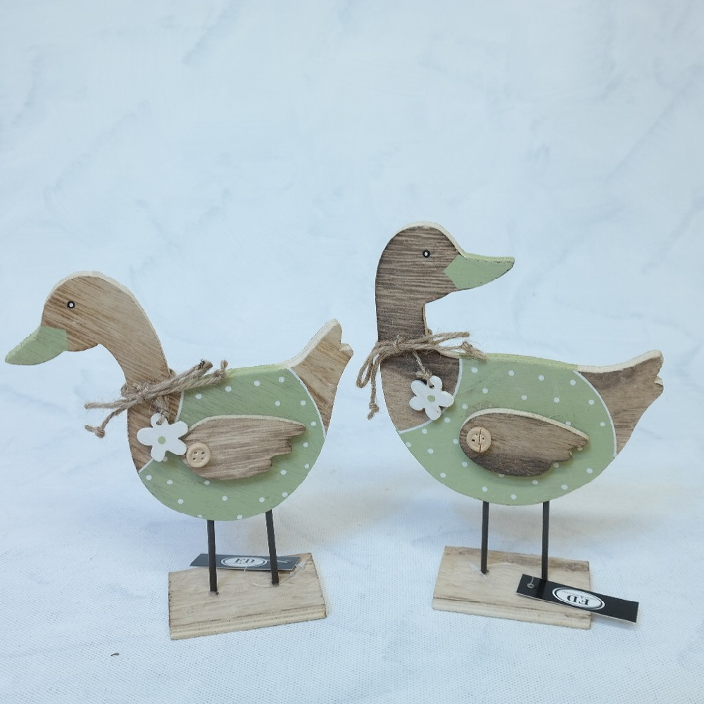 kachna dřevo dekorace
