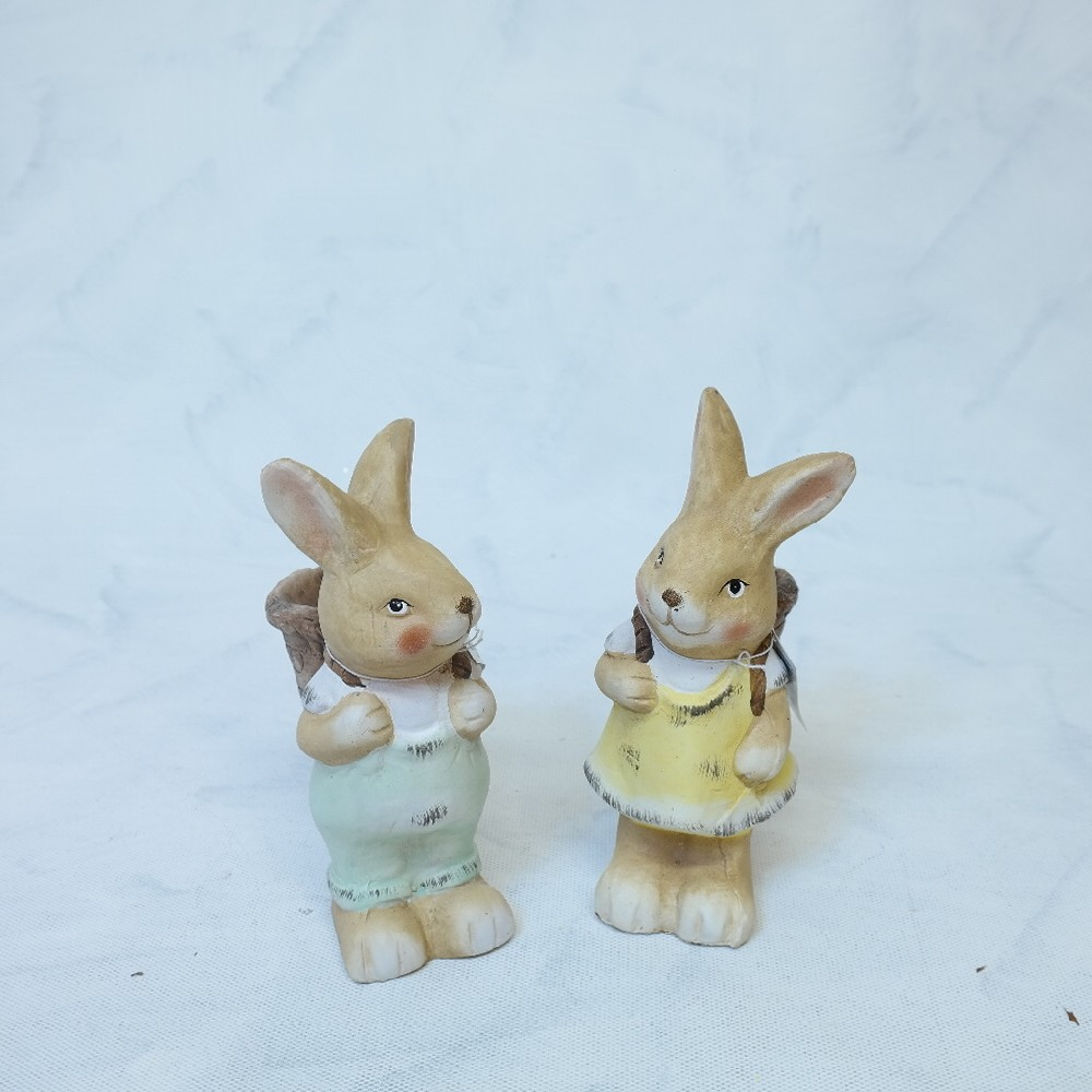 zajíc/zaječice keramika dekorace