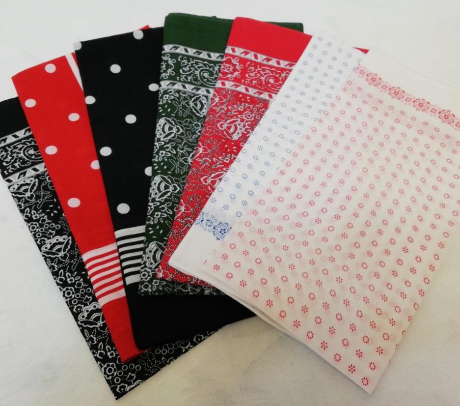 šátek bavlněný 70x70
