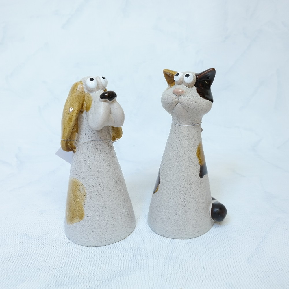 kočka, pes keramika 22.cm