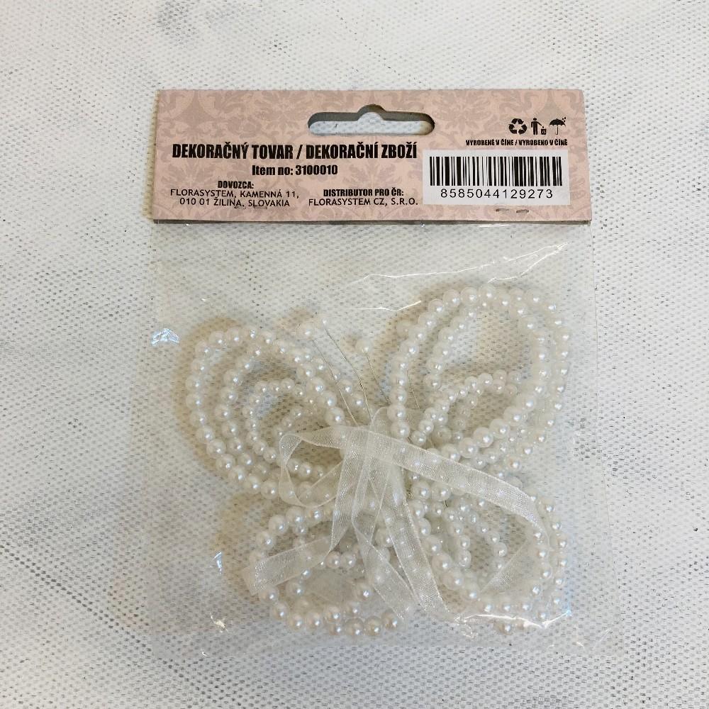 motýl z korálků 2ks sada