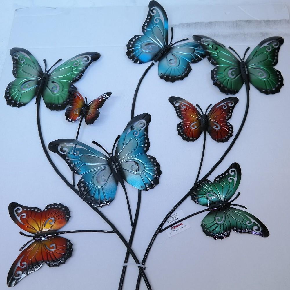 motýli kovová dekorace