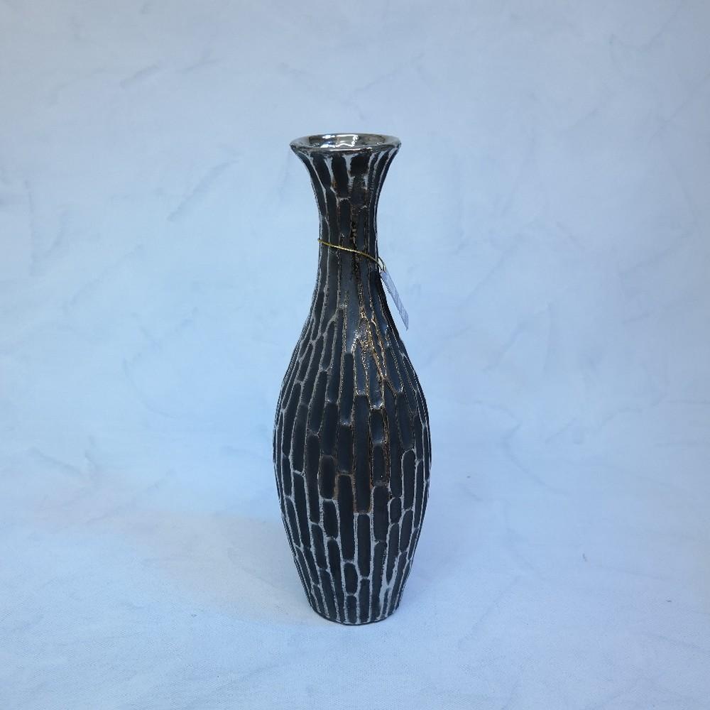váza antracit40cm