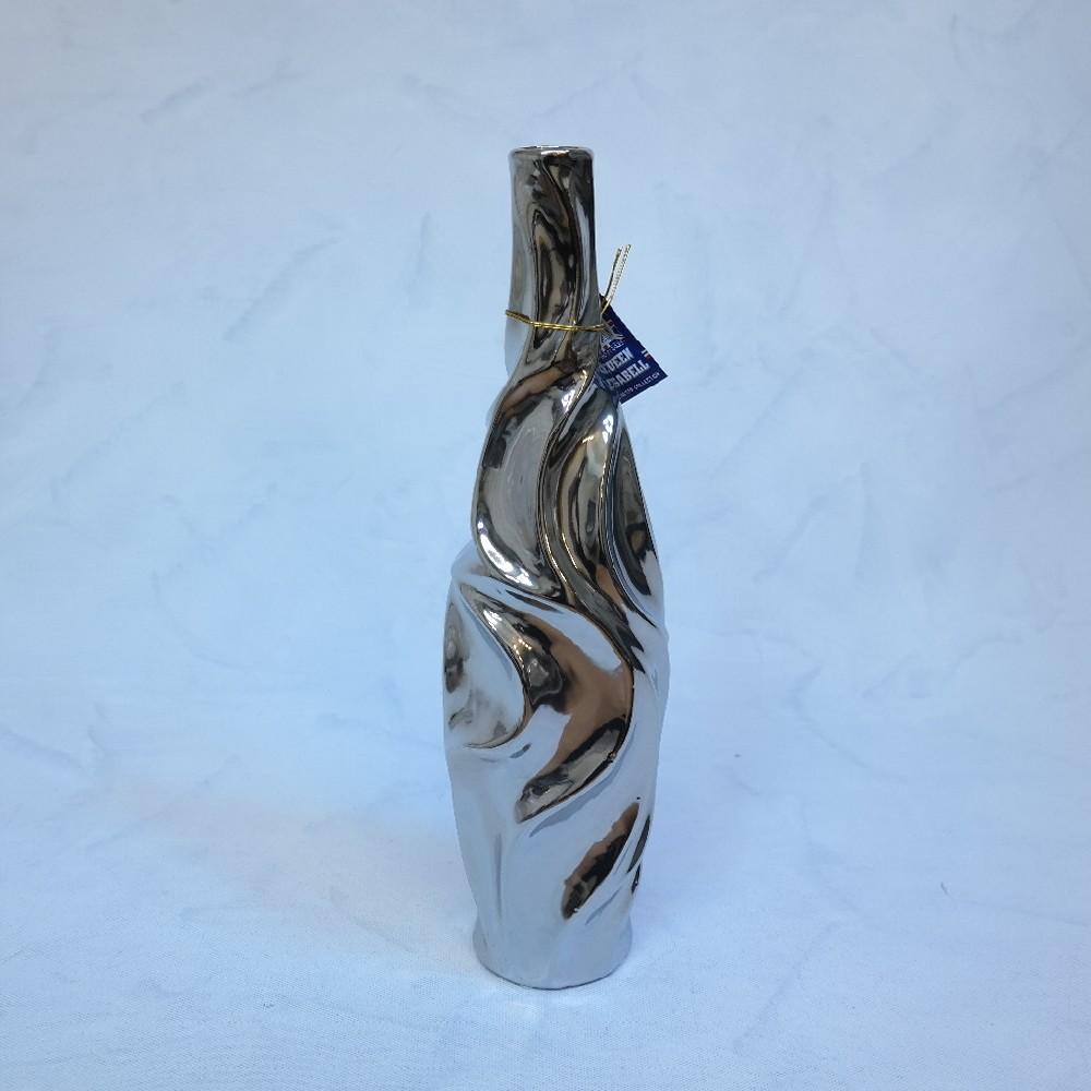 váza stříbrná40cm
