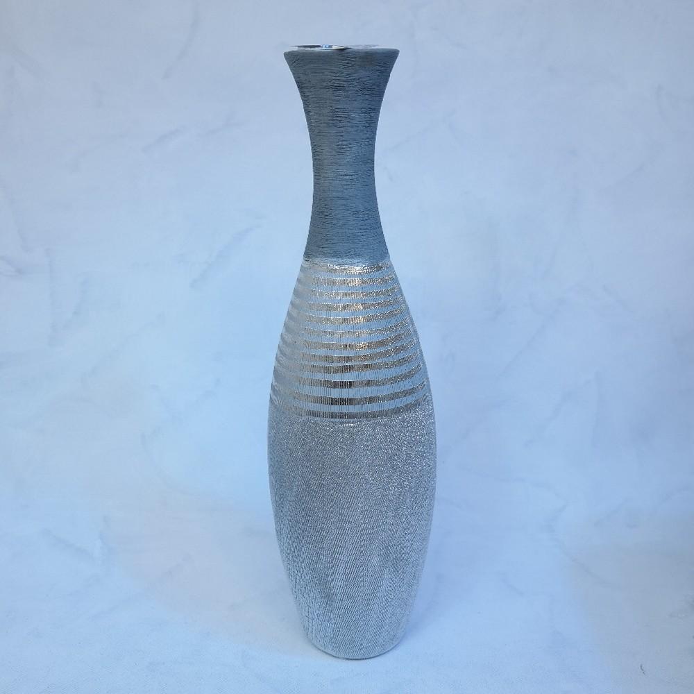 váza stříbrno šedivá50cm