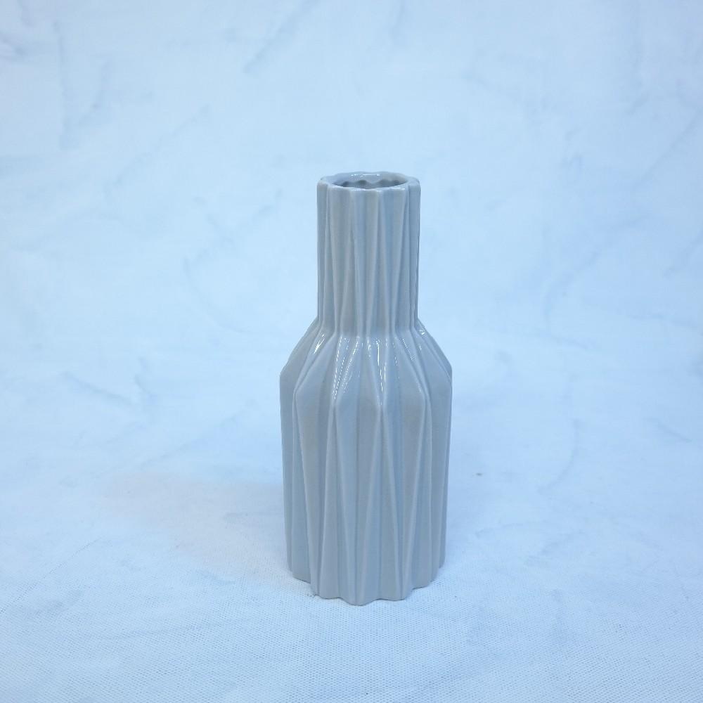 váza šedivá23cm