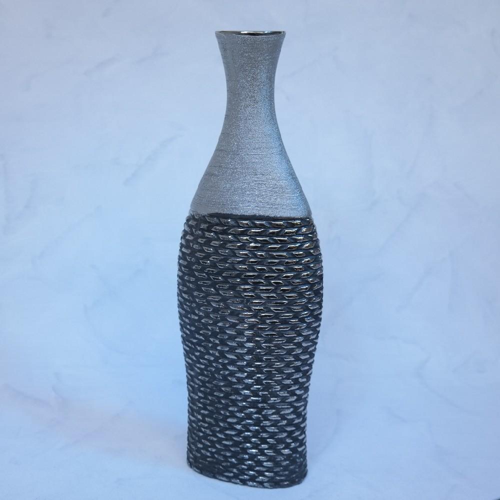 váza stříbrno/zlato-antracit45cm