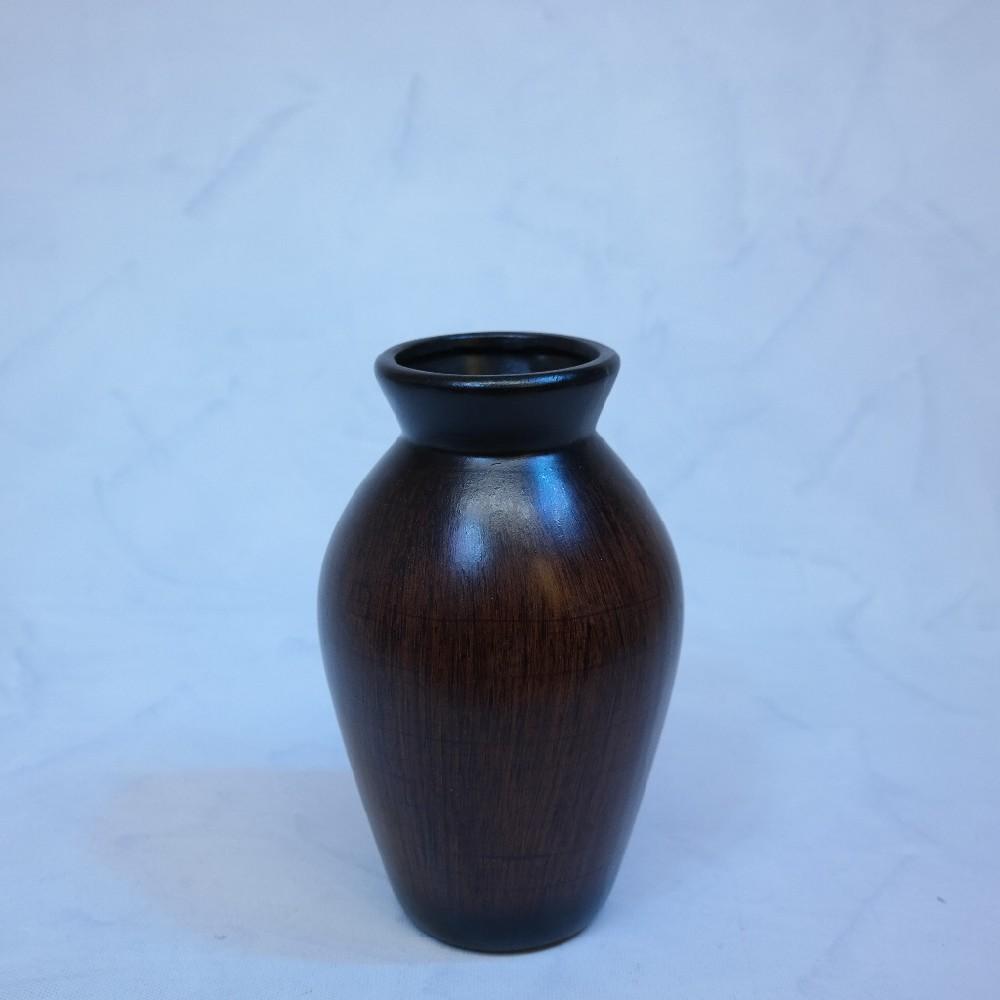 váza hnědo-černá23cm