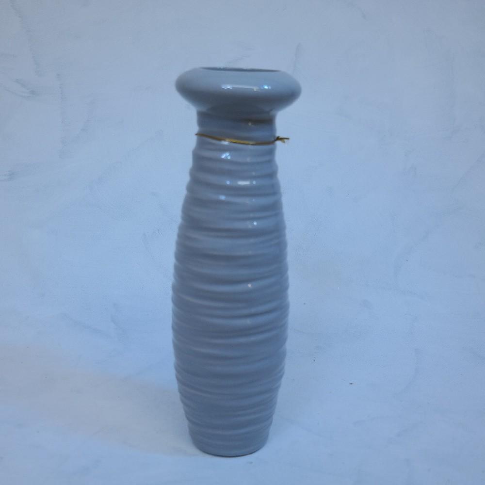 váza šedivá32cm