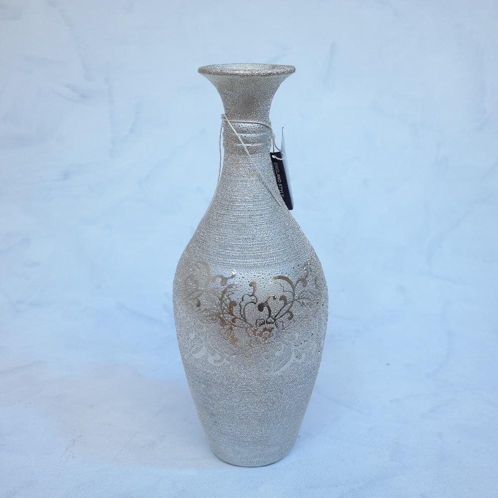 váza stříbrná35cm