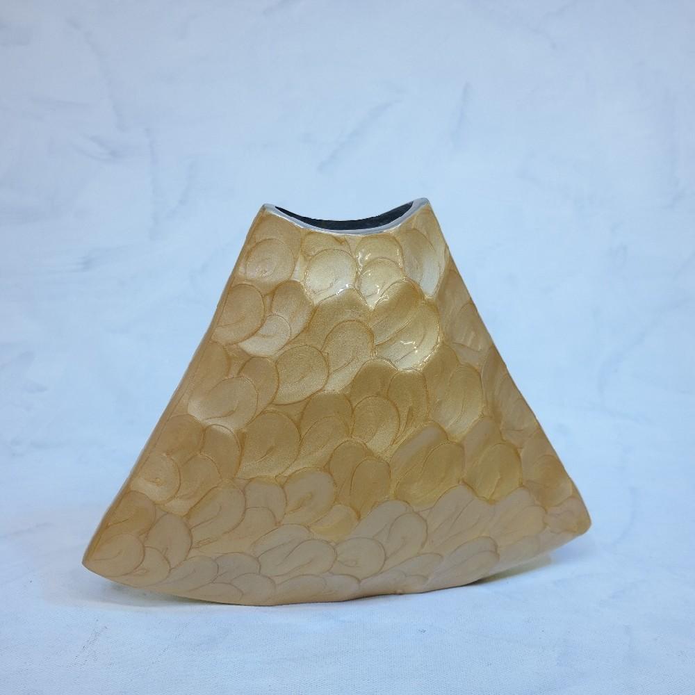 váza zlatá dekorace28cm