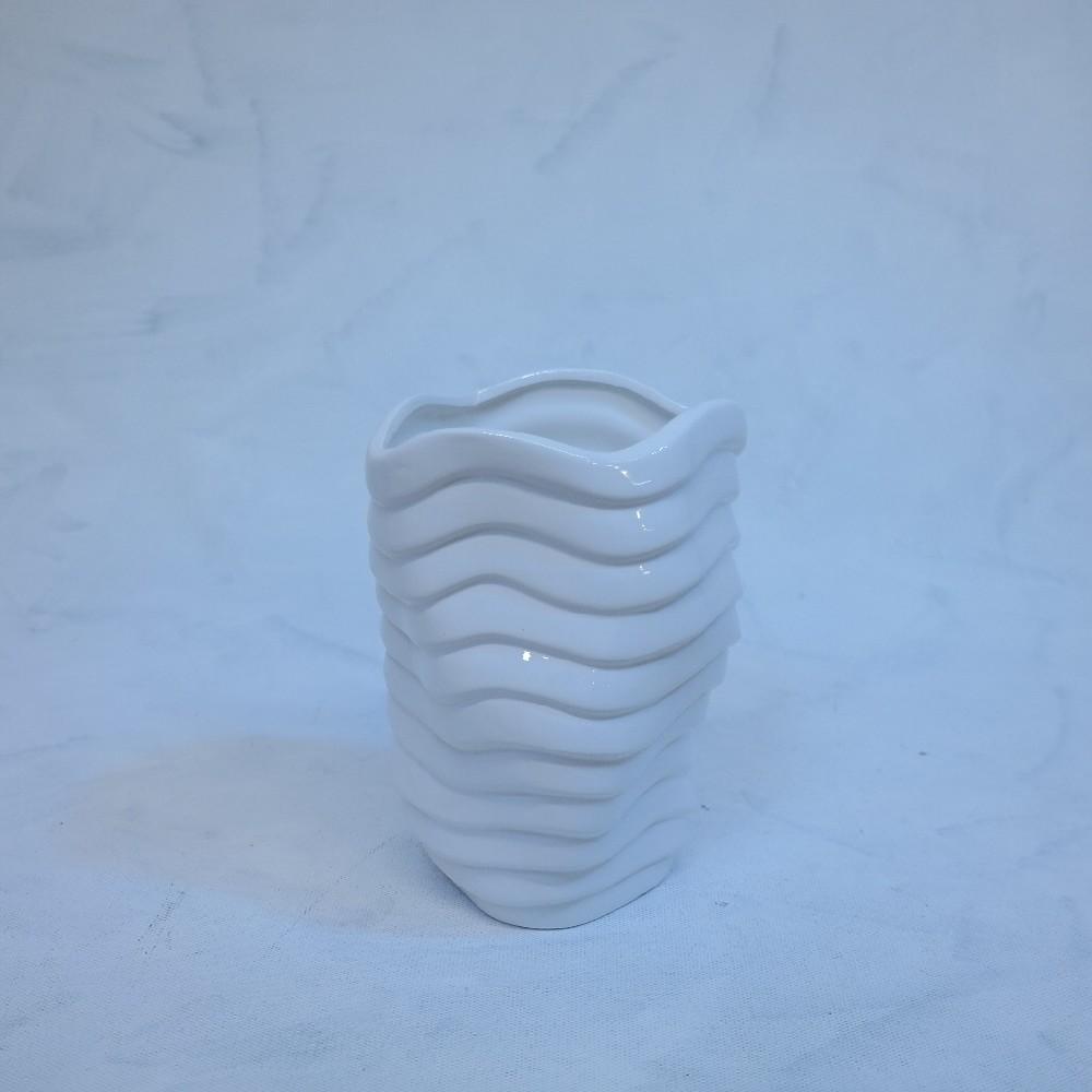 váza bílá20cm