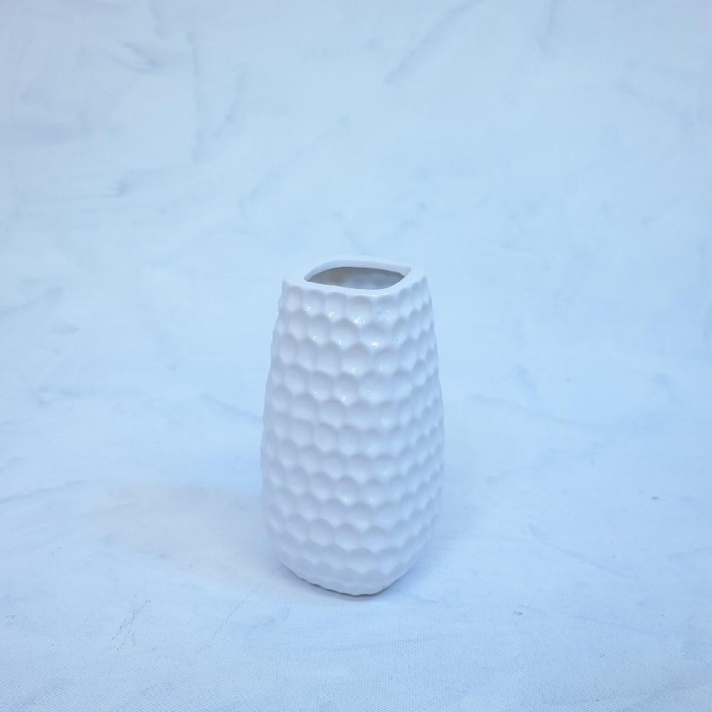 váza bílá18cm