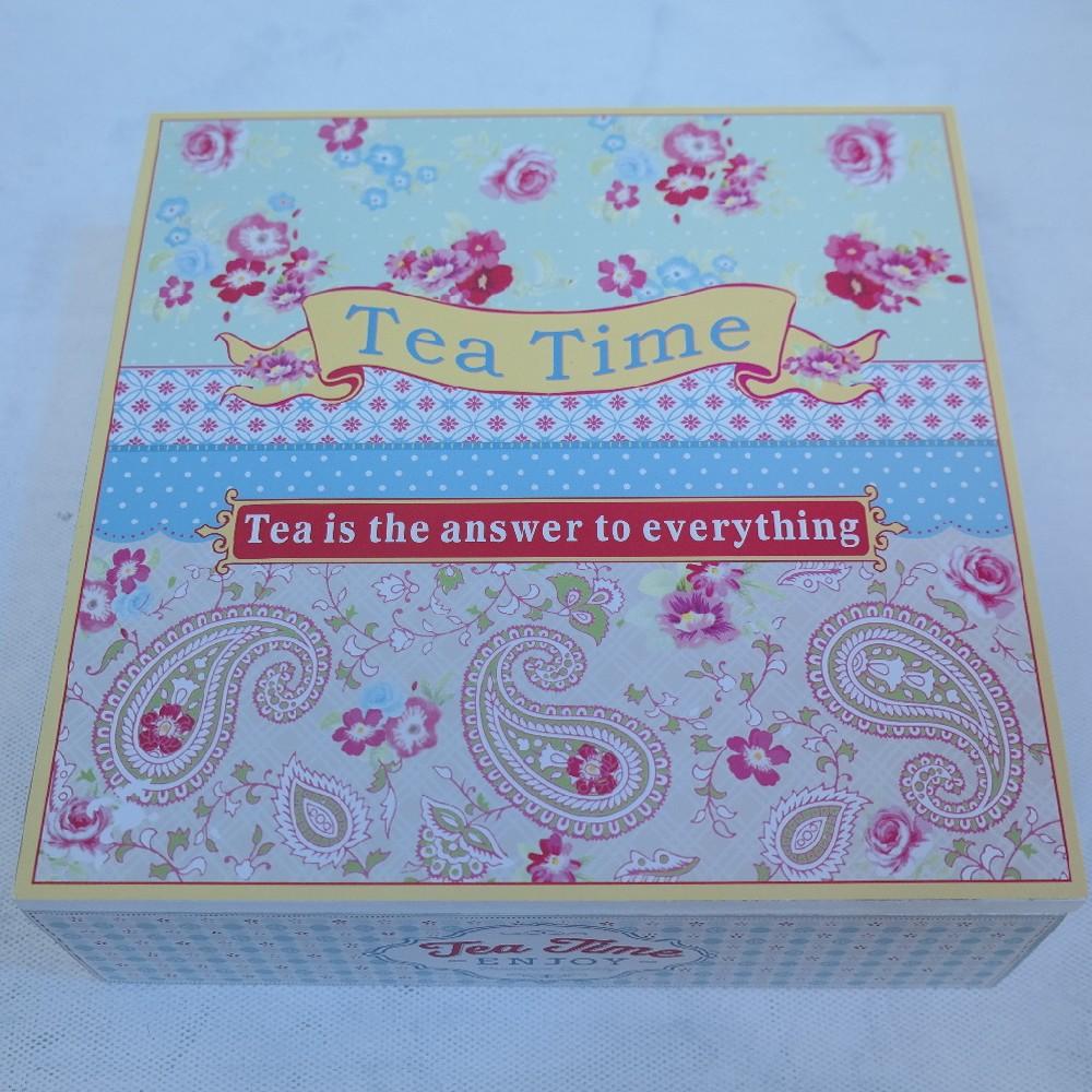 krabička na čaj dřevo24x24x8cm