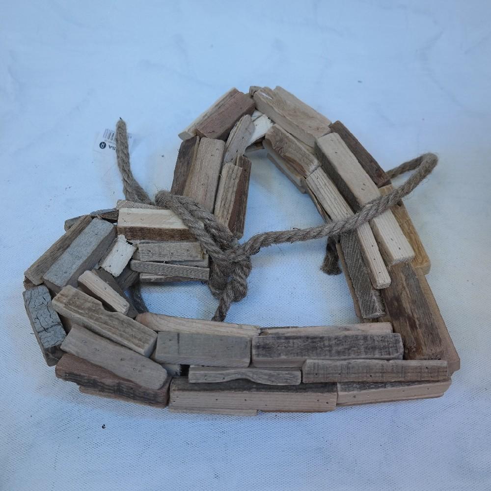 srdce37cm dřevo dekorace