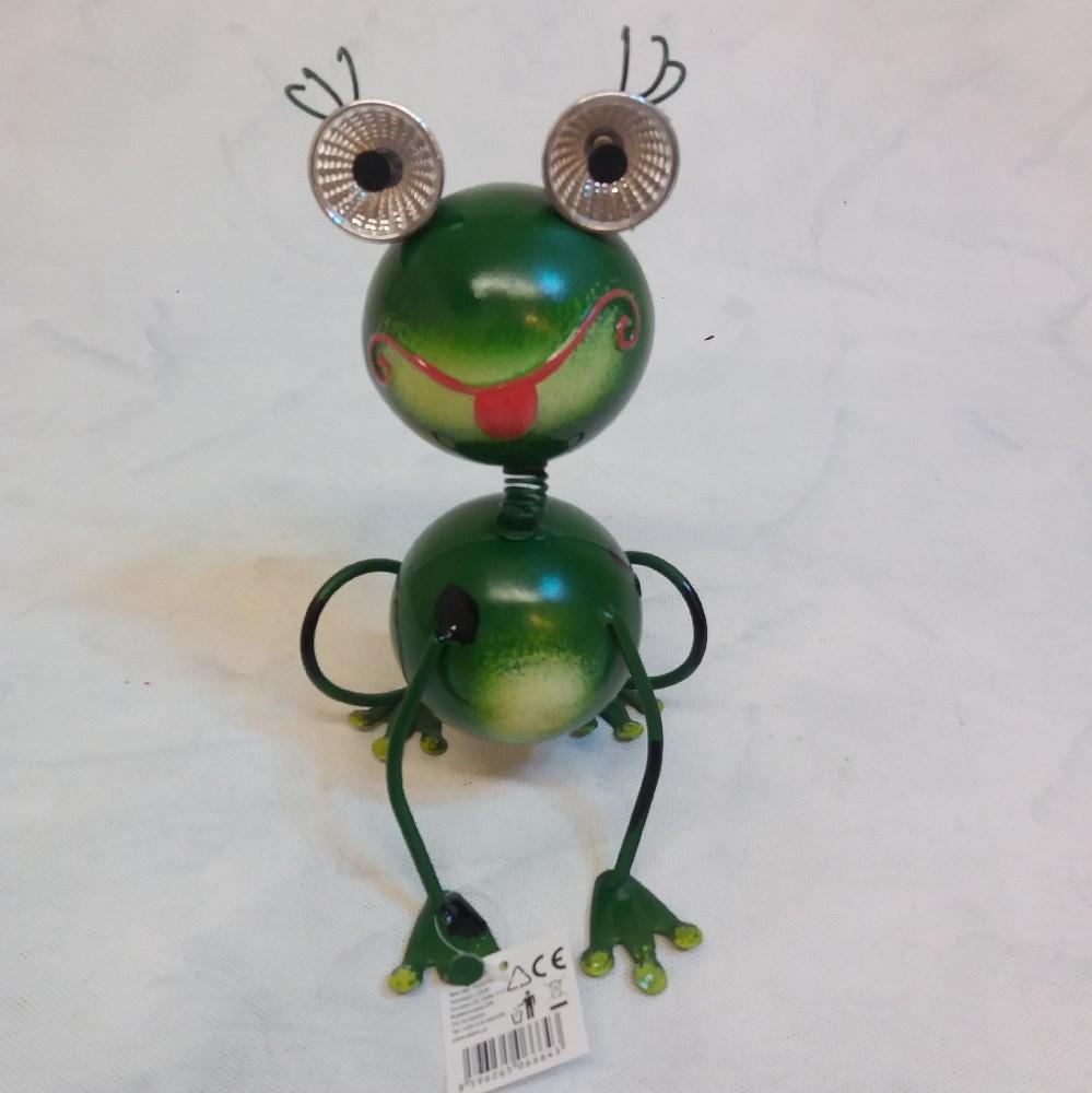 Žába - kov. dekorace LED solar