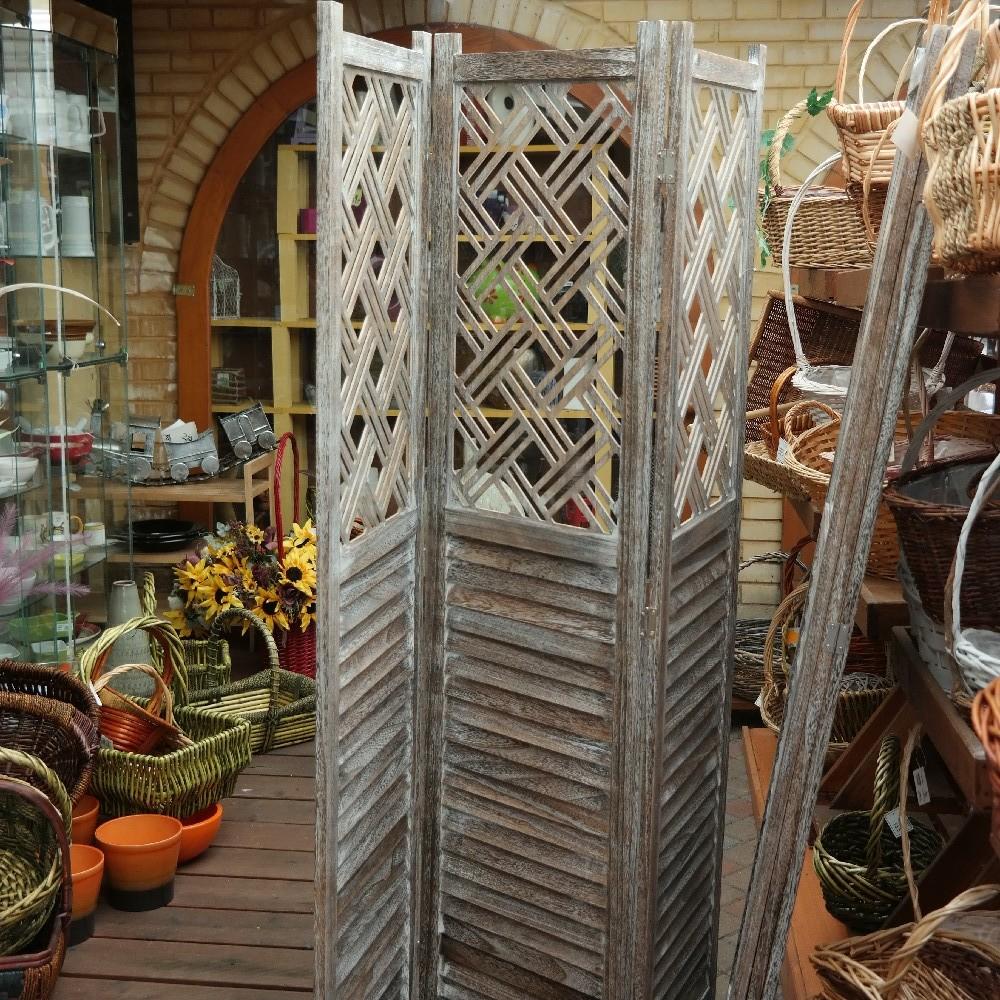 paraván dekorace dřevo172cm