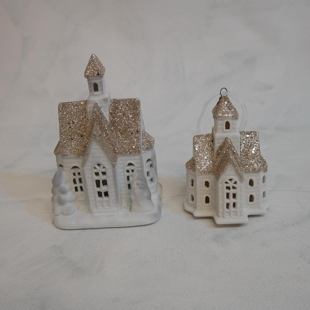domek porcelánový s LED