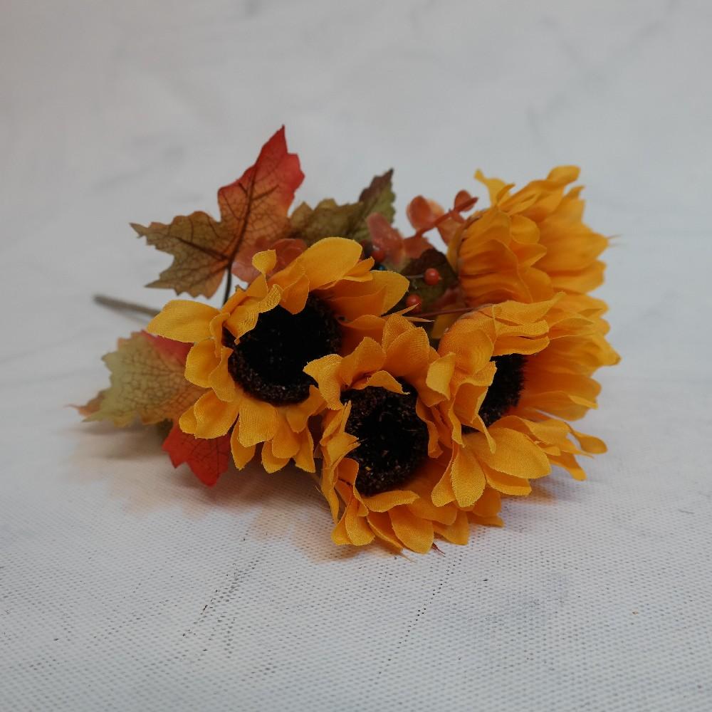 květina umělá kytice slunečnice s javor. listy