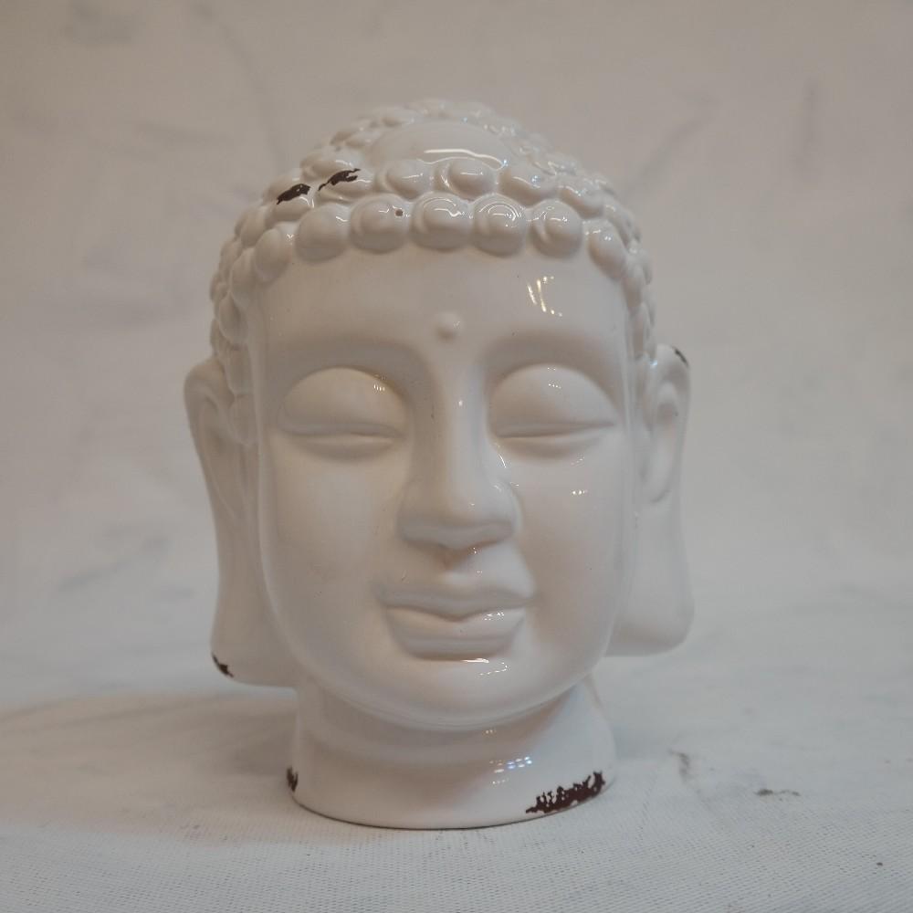 hlava Budha bílá