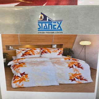 povlečení 140x200cm bavlna stanex oranžové květy