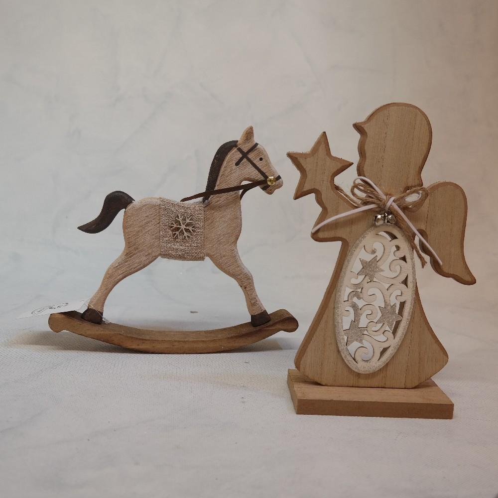 koník dřevěný houpací