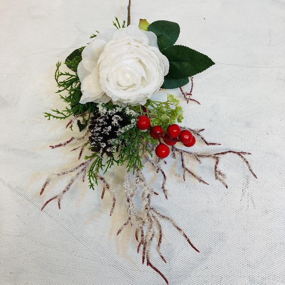 větvička Vánoční s růží