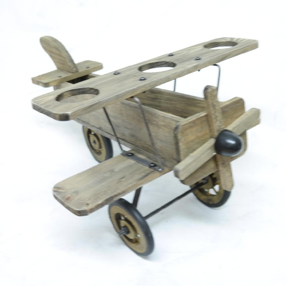 letadlo dekorace 50 cm dřevo