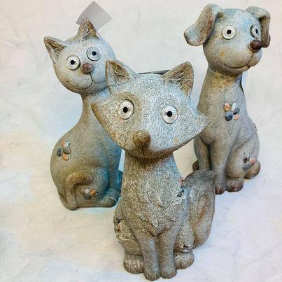 dekorace s led světlem pes, kočka, liška